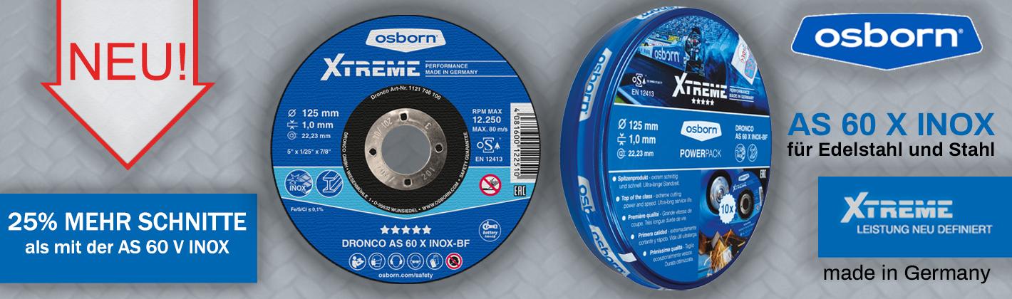 OSBORN-DRONCO Trennscheibe AS 60 X INOX, 25 Stück