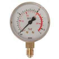 Manometer Acetylen, 25 bar